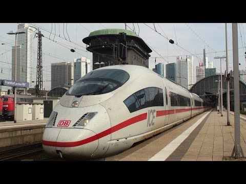 German ICE highspeed trains at Frankfurt Main Station