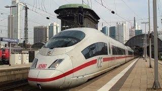 German ICE highspeed trains at Frankfurt Main Station