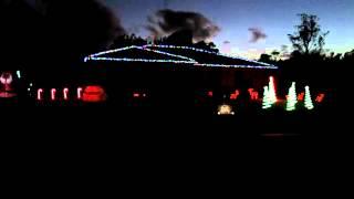 Dueling Banjo Jingle Bells xmas lights 2012, Cooroy Australia