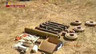 На Донбасі виявили арсенал російської зброї