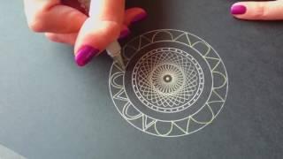 Mandala & spirograph drawing