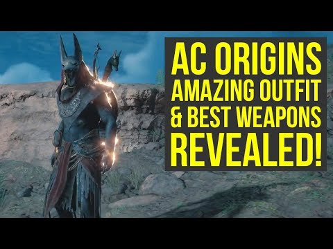 Assassin's Creed Origins MOST AMAZING OUTFIT & BEST WEAPONS REVEALED! (AC Origins Outfits)