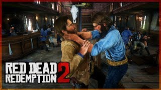 PELEA EN EL BAR  - RED DEAD REDEMPTION 2 #2