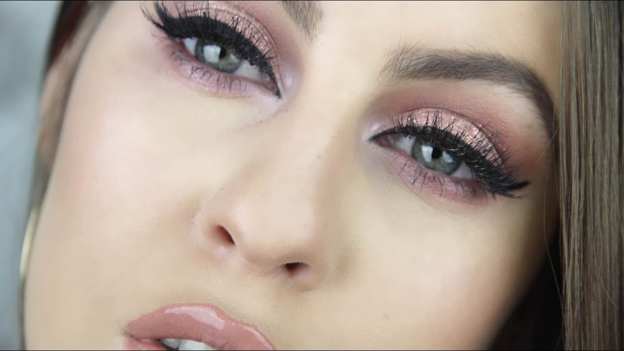 Bien connu Pink Glittery Eyes and Nude Lips | Makeup Tutorial - YouTube IA03
