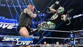 Randy Orton attacks an injured Rey Mysterio: SmackDown LIVE, Nov. 27, 2018