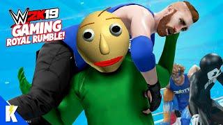 WWE 2k19 Gaming Royal Rumble! Baldi, Hello Neighbor, and Bendy! | KIDCITY GAMING