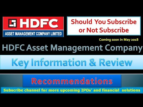 HDFC Asset Management Company IPO | Should you subscribe or not? | Company finance information