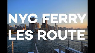 NYC Ferry Launches Lower East Side Route