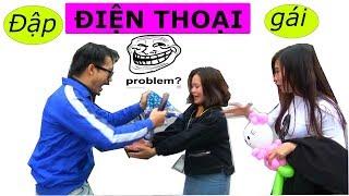 Troll ảo thuật | Thử đánh rơi điện thoại gái xinh | Dropping Someone Phone Prank
