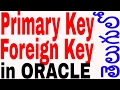 Primary key and Foreign key on Oracle In Telugu | Oracle in Telugu