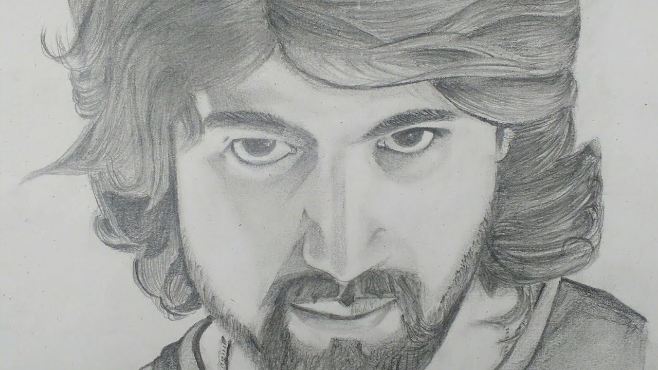 Drawing rocking star yash
