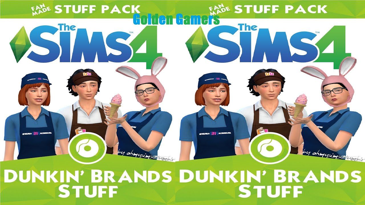 The Sims 4 Dunkin' Brands Stuff  Youtube