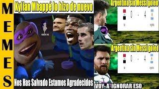 MEMES ARGENTINA GOLEA SIN MESSI |FRANCIA VS ISLANDIA |ESPAÑA GOLEA A GALES 4-1