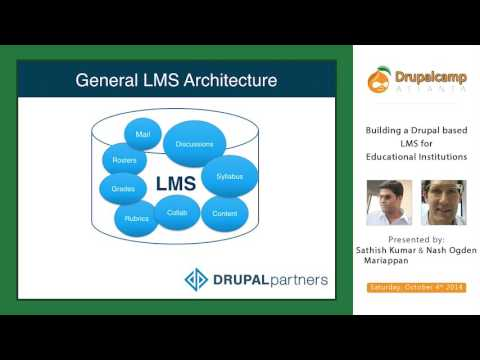 DCATL 2014 - Building a Drupal based LMS for Educational Institutions on YouTube