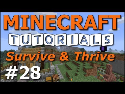 Minecraft Tutorials - E28 Gold, Diamond, Obsidian (Survive And Thrive II)