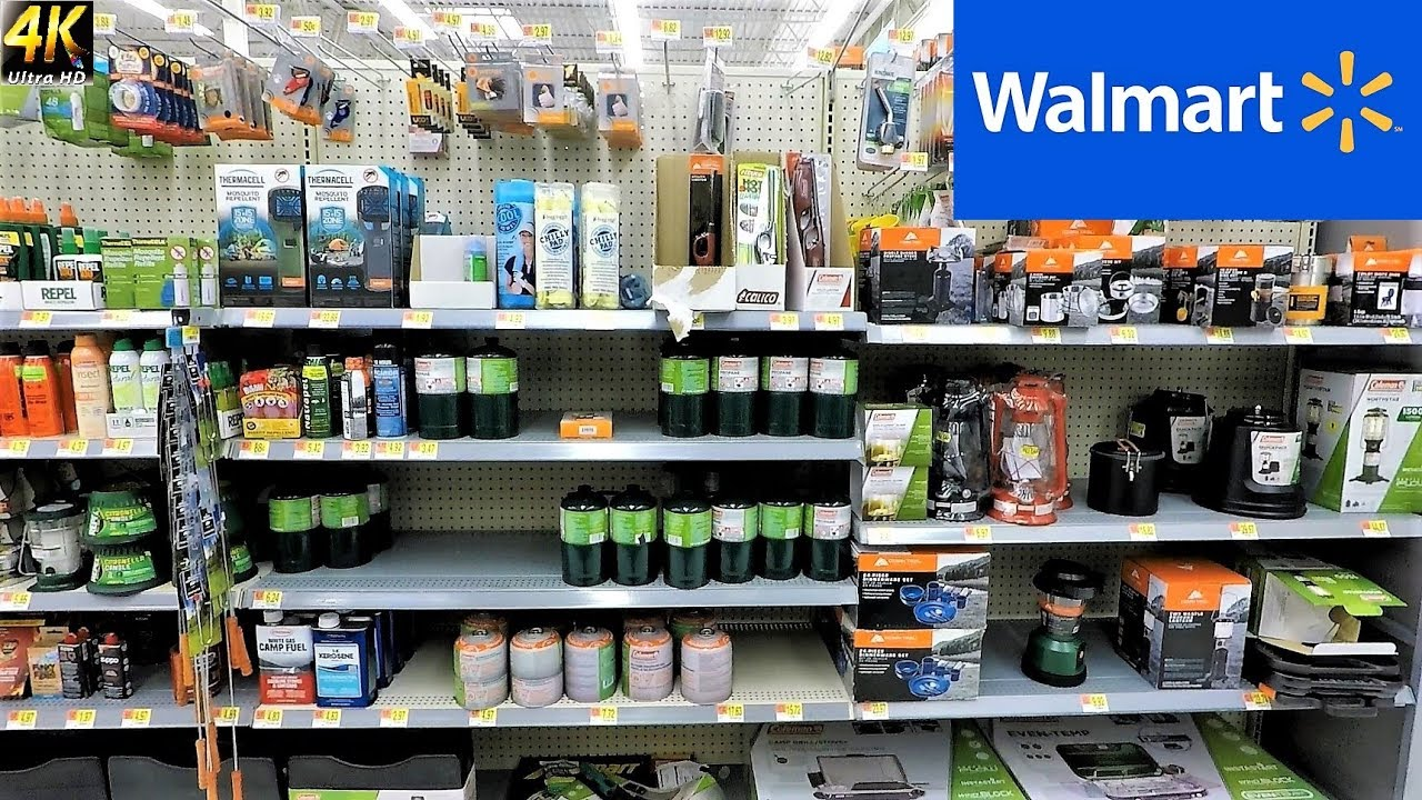 Entire Survival And Camping Section At Walmart Survival