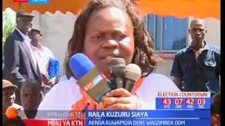 Raila Kuzuru Siaya : Aenda kuwapigia debe wagombea ODM