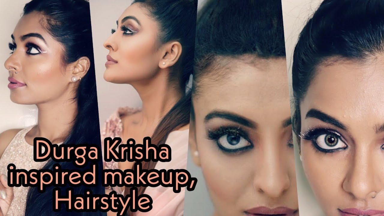 Durga krishna inspired makeup look|Makeup look from scratch|Nails,skincare,hairstyle|Asvi Malayalam