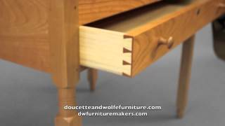 Shaker Stand Up Desk handmade by Doucette and Wolfe Furniture Makers