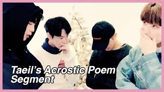 T.A.P (Taeil's Acrostic Poem) WAS A MESS