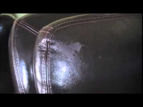 Pu Leather Sofa Repair Laura Ashley Padstow Reviews How To Fix A Peeling Couch Youtube