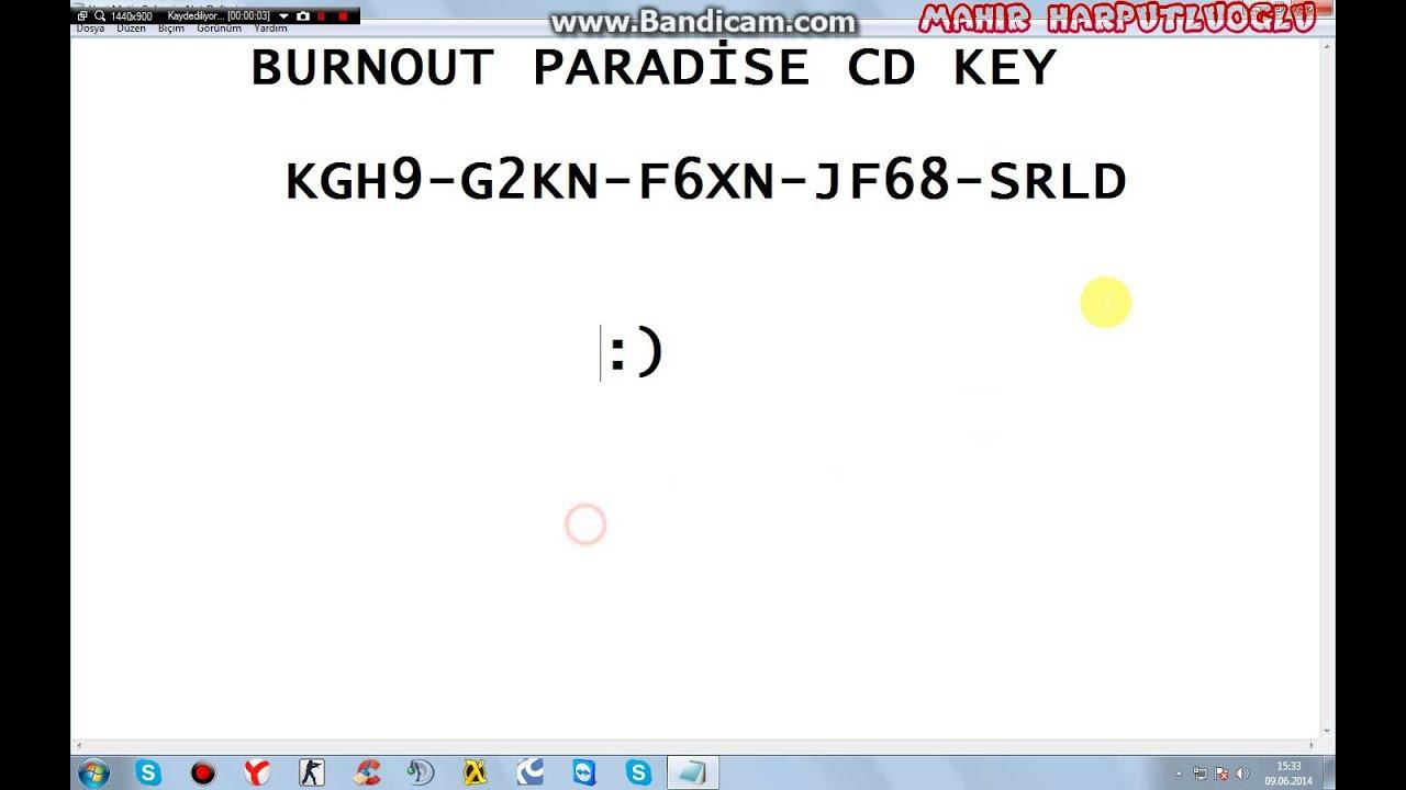 burnout paradise registration code for pc free