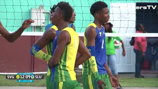 Windward Islands School Games 2018 - Boys Volleyball - St. Lucia vs St. Vincent - 2nd Set