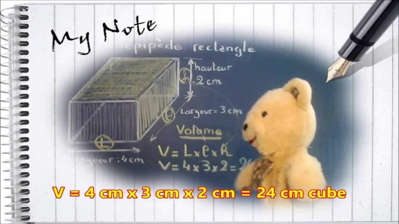 calculer le volume d 39 un cube parall l pip de rectangle maths ce1 ce2 youtube. Black Bedroom Furniture Sets. Home Design Ideas