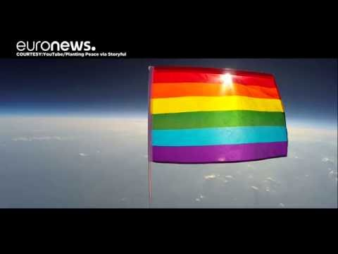 American Charity Sends LGBT Rainbow Flag Into Stratosphere