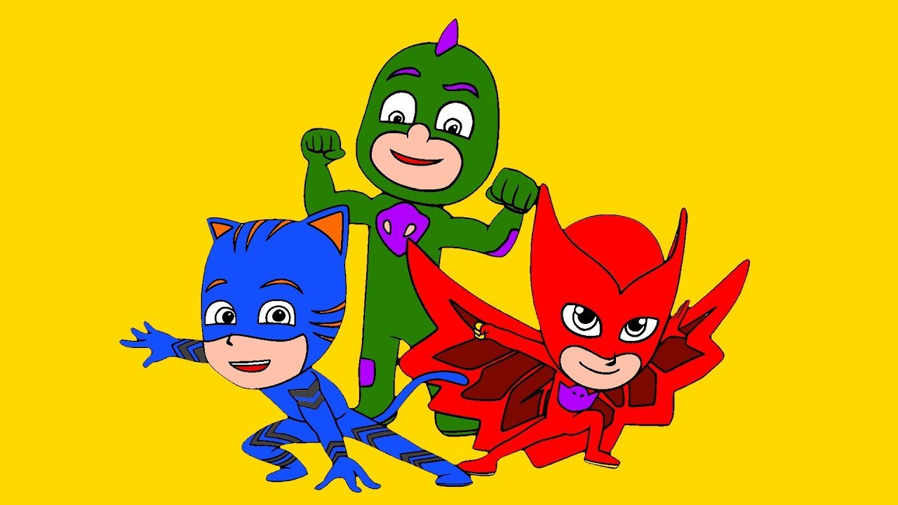 Disney PJ Masks Coloring Book - The Color Song - Puzzle ...