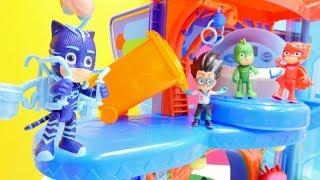 PJ Maskeliler oyuncakları ile seçkin bölümler. PJ Masks ile oyna ve eğlen!