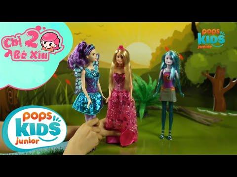 Đồ Chơi Búp Bê Barbie - Chăm Sóc Tóc Cùng Nàng Barbie Tóc Dài - Chị 2 Bé Xíu