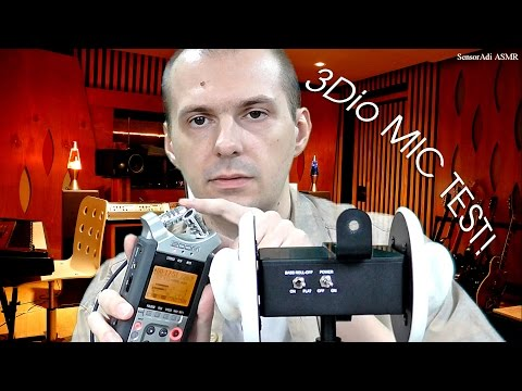 ASMR Biggest 3Dio Free Space Pro Binaural Mic Test + Compare other Microphones