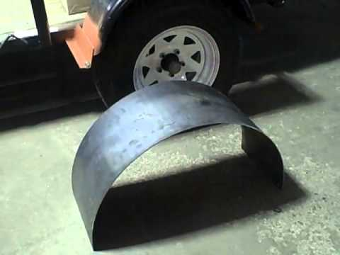 How to make wooden trailer fenders