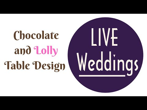 Wedding Reception Ideas BEST Chocolate Lolly Table