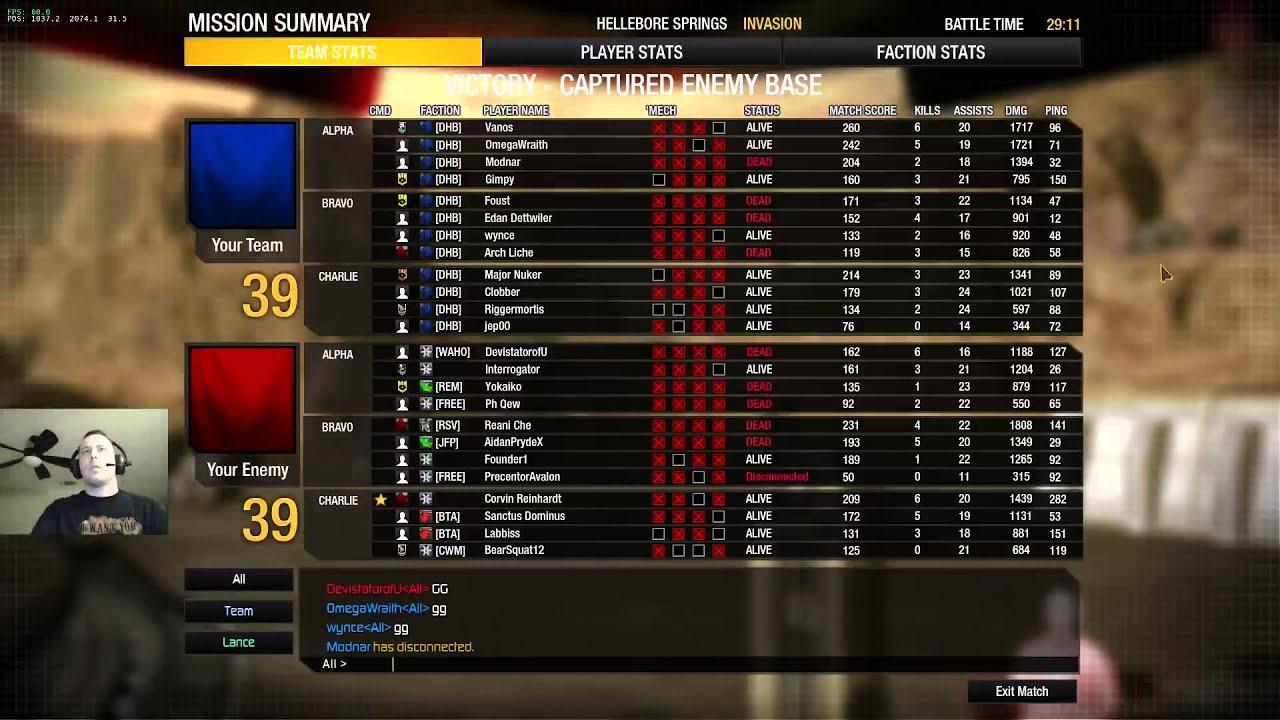 Mwo community warfare matchmaking