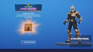 *UNLOCKING* Final Stage 'ULTIMA GOLD KNIGHT' (TIER 100) After VICTORY ROYALE WIN! Fortnite