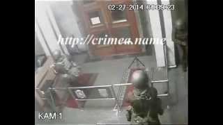 27.02.2014: Захват Совмина Крыма (второе видео)