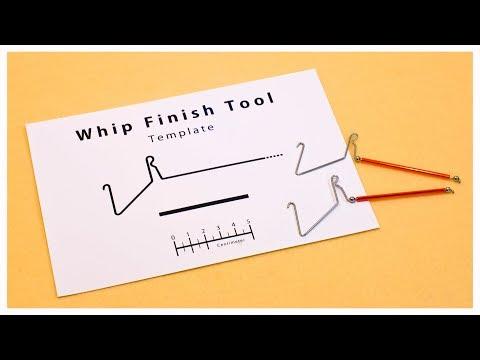 Whip Finish Tool Template / ウィップフィニッシャーの自作用テンプレート