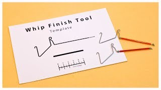 Template for making a Whip Finish Tool / ウィップフィニッシャーの自作用テンプレート
