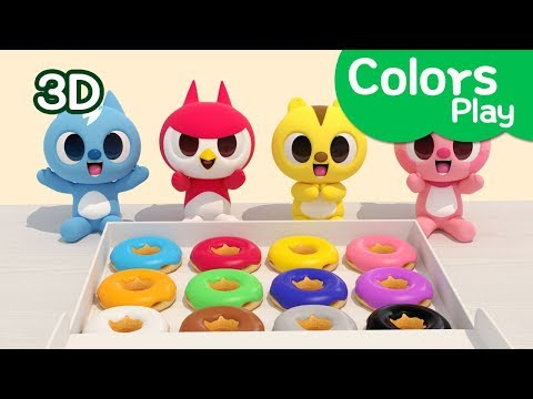 Miniforce Learn colors with Miniforce  Colors Play  Eating doughnut  Miniforce Colors Play