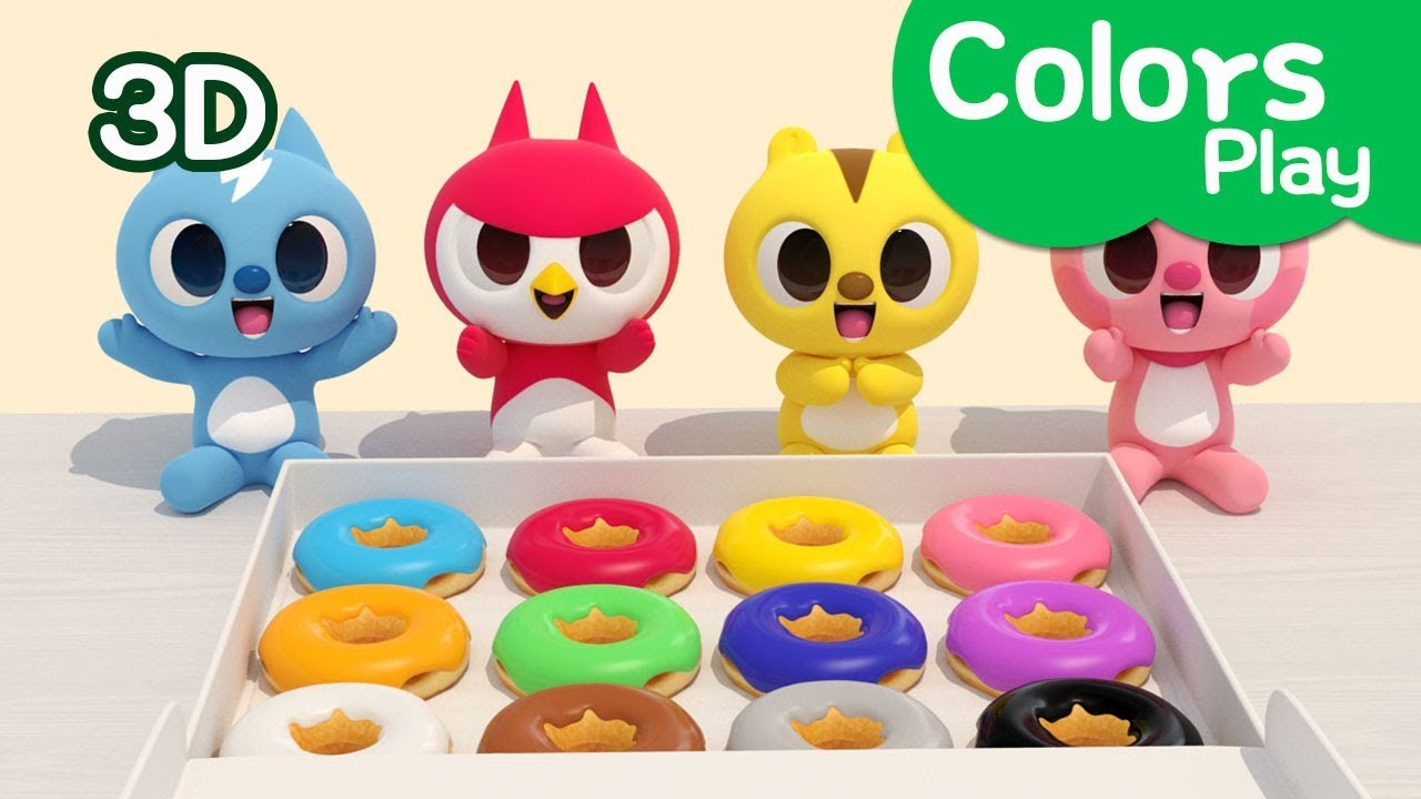 Miniforce Learn Colors With Miniforce Colors Play Eating Doughnut Miniforce Colors Play Youtube