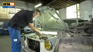 Sur la mythique N7, le garage halleur  , garage spécialiste MG et Morgan
