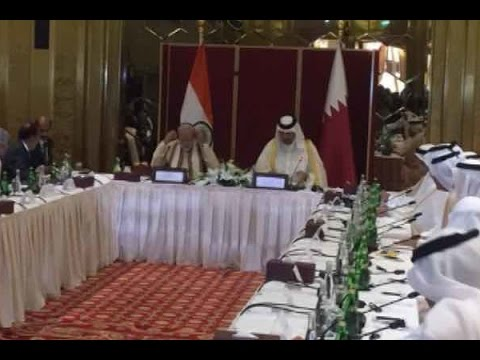 PM Modi at round table interaction with Qatar business leaders in Doha