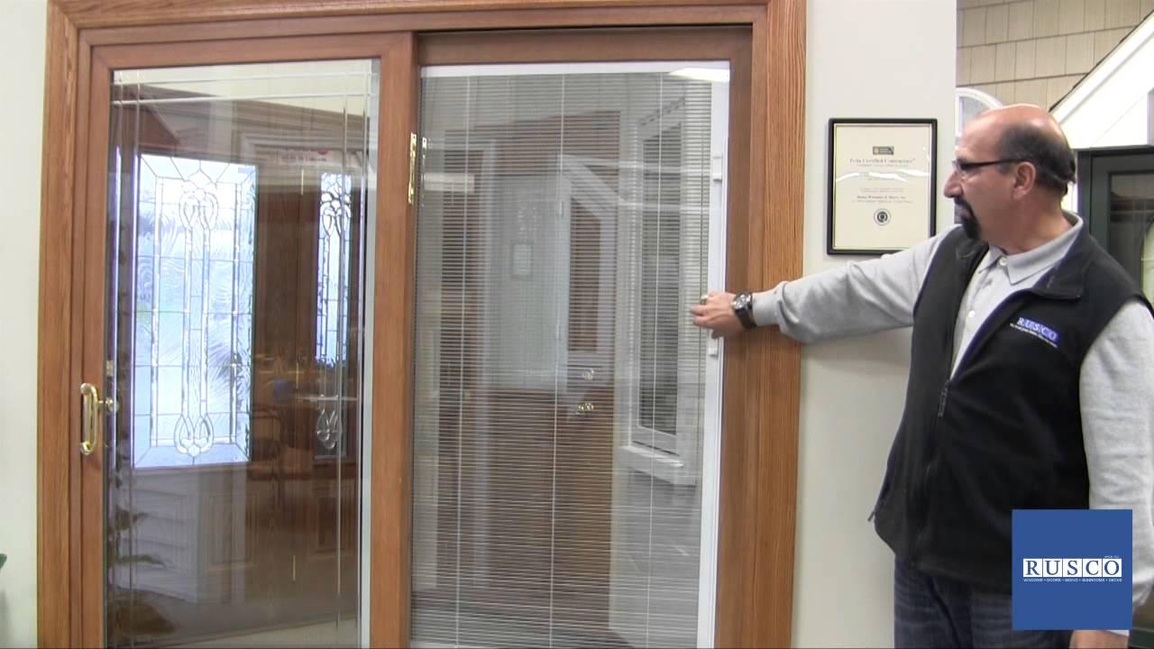 Sliding Patio Door with Builtin Blinds  YouTube