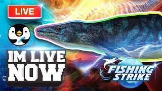 🔴 【釣魚大亨 Fishing Strike】NORTH SEA GAMEPLAY Legendary Fish Mosasaurus Dark KING HUNTING!