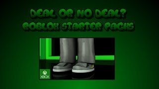 Deal or No Deal? - New Roblox Starter Packs