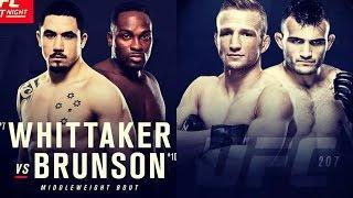 Whittaker vs Brunson New UFC Melbourne Main Event; TJ Dillashaw vs Lineker for UFC 207