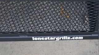 24x72 trailer pit with upright vertical by lone star grillz