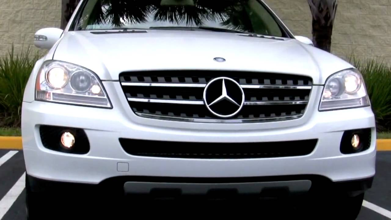 2007 mercedes benz ml320 cdi alabaster white youtube. Black Bedroom Furniture Sets. Home Design Ideas